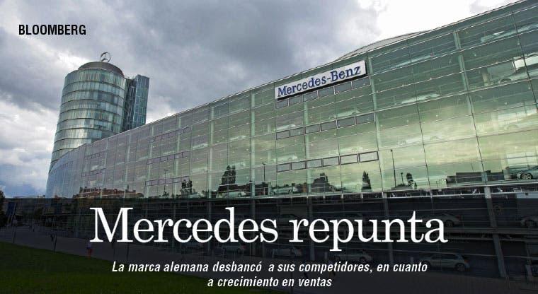 Mercedes superó en crecimiento de ventas a Audi y BMW