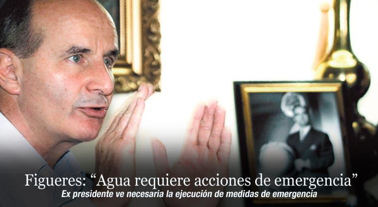 """Figueres: """"Agua requiere acciones de emergencia"""""""