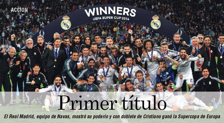 Real Madrid conquistó la Supercopa