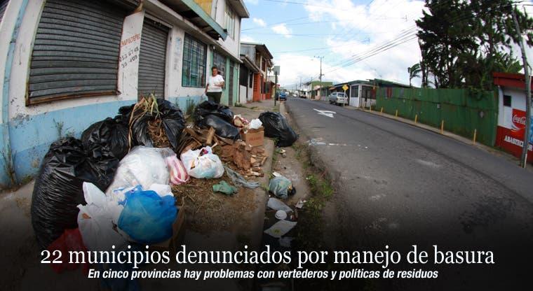 22 municipios denunciados por manejo de basura