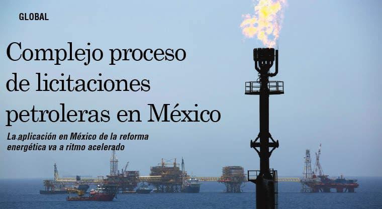 Complejo proceso de licitaciones petroleras en México