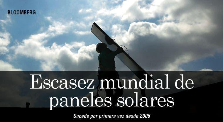 Primera escasez mundial de paneles solares desde 2006