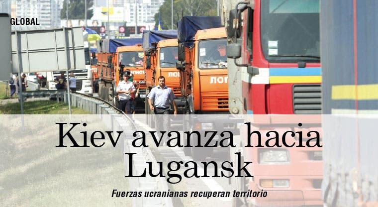 Las fuerzas de Kiev avanzan hacia el centro de Lugansk