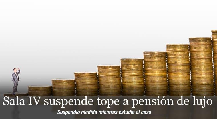 Sala IV suspende tope a pensión de lujo