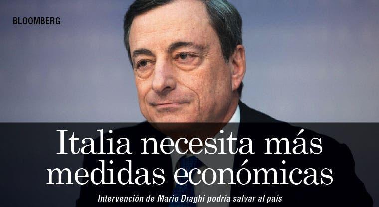 Italia podría necesitar más medidas de Draghi