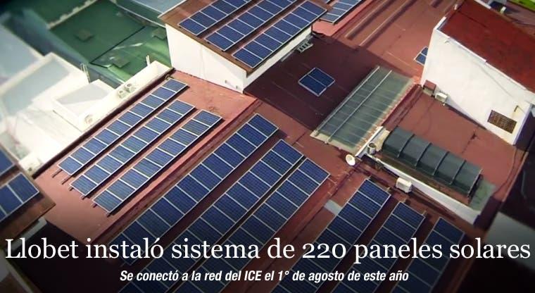 Llobet instaló sistema de 220 paneles solares