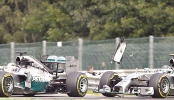 Rosberg niega haberle dicho a Hamilton que el incidente en Spa fue deliberado