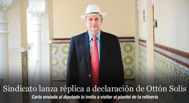 Sindicato lanza réplica a declaración de Ottón Solís