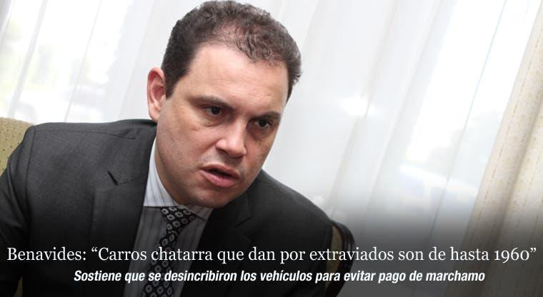 """Benavides: """"Carros chatarra que dan por extraviados son de hasta 1960"""""""