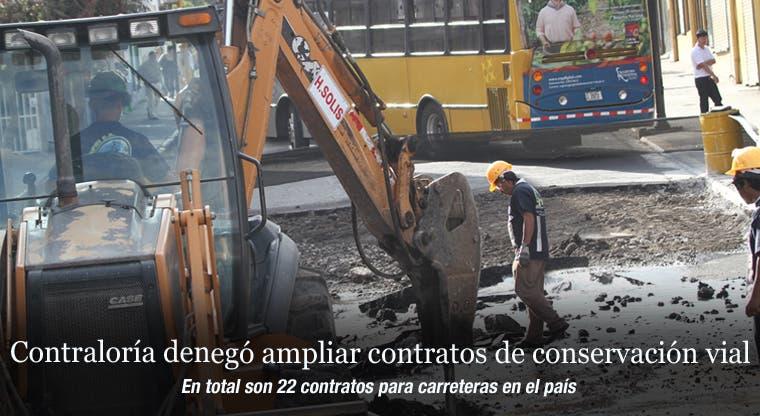 Contraloría denegó ampliar contratos de conservación vial