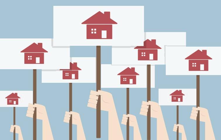 Bloque de vivienda protesta en varios puntos del país