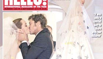 Jolie y Pitt desvelan imágenes de su boda