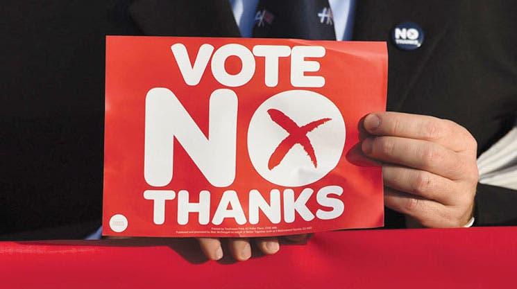 """Escoceses dicen """"No"""" a independencia"""
