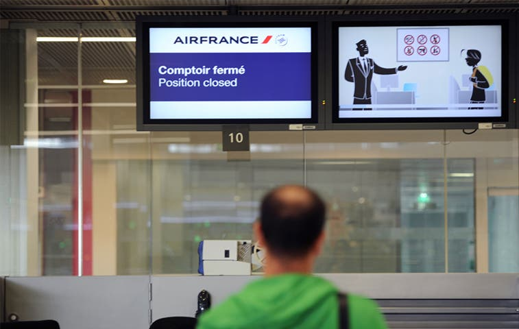 Huelga obliga a Air France a cancelar más de 50% de sus vuelos