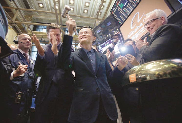Jack Ma hace ganar dinero a los inversores en primer día