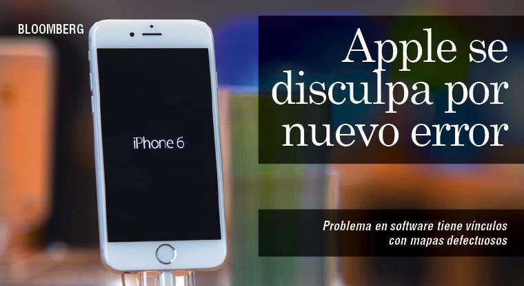 Problema en software de iPhone tiene vínculos con mapas defectuosos