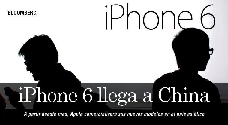 Apple venderá este mes en China su iPhone 6