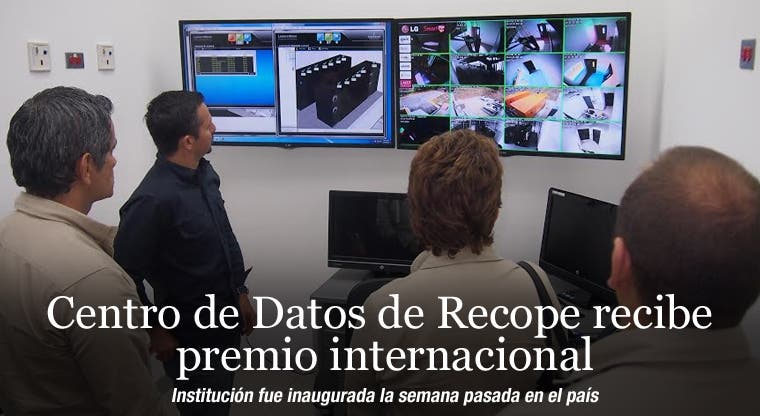 Centro de Datos de Recope recibe premio internacional