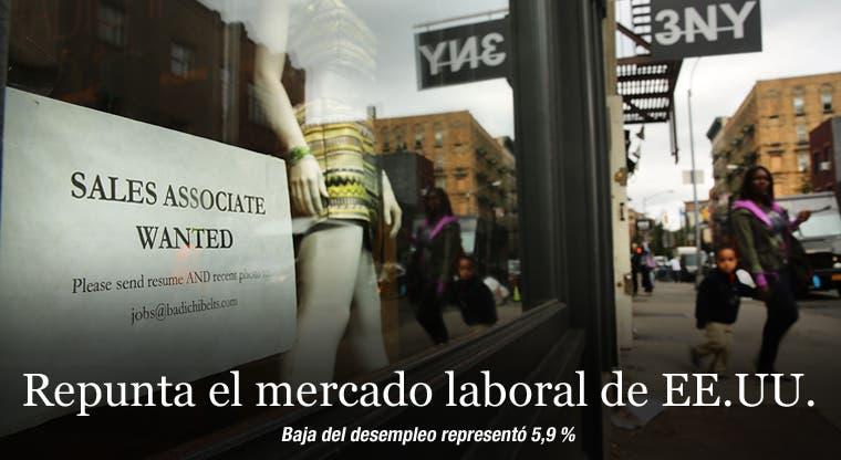 Repunta el mercado laboral de EE.UU.