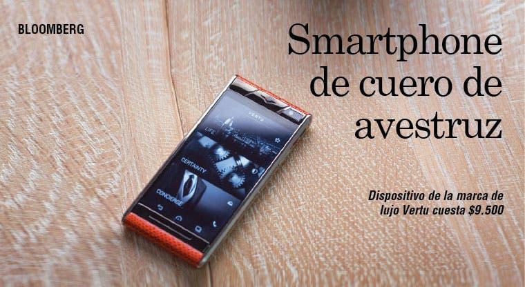 Smartphone de cuero de avestruz cuesta $9.500