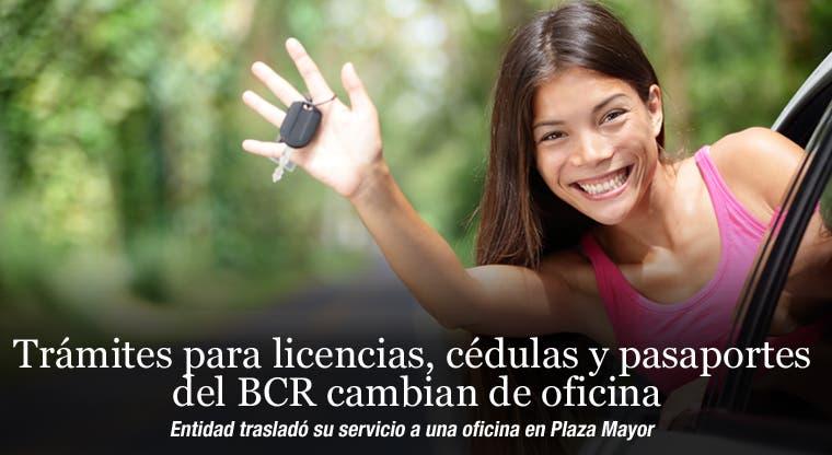 Trámites para licencias, cédulas y pasaportes del BCR cambian de oficina