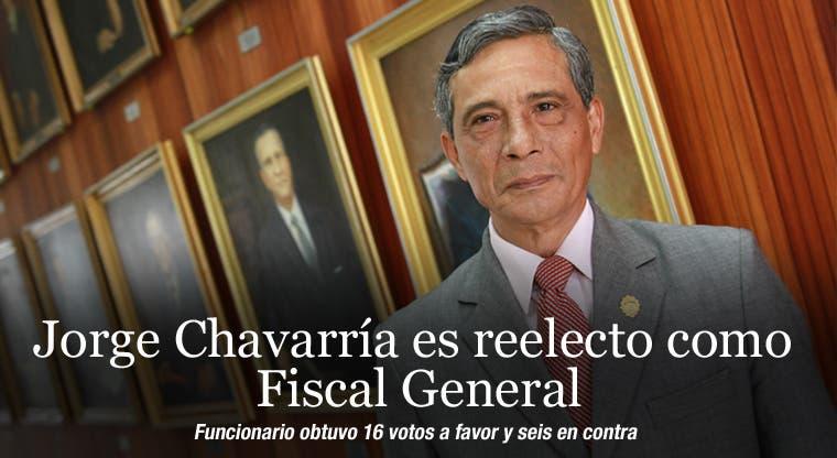 Jorge Chavarría es reelecto como Fiscal General