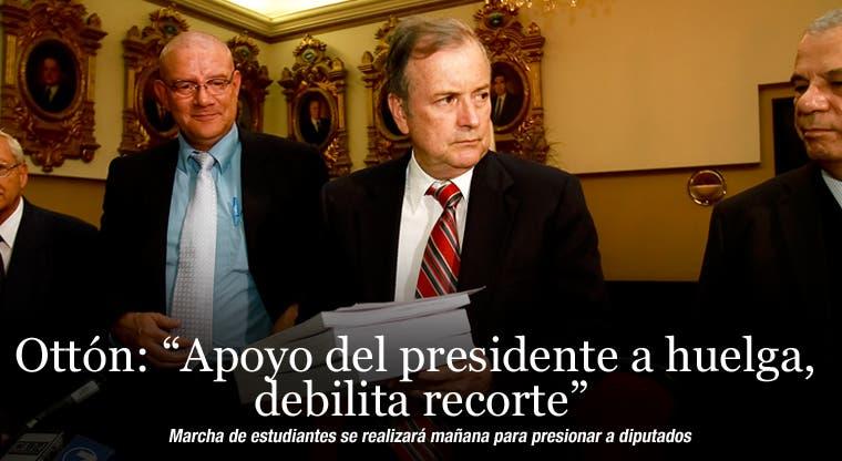 """Ottón: """"Apoyo del presidente a huelga, debilita recorte"""""""