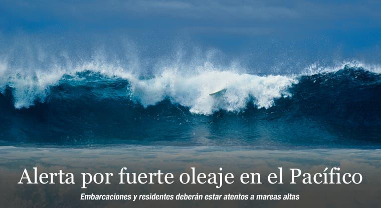 Alerta por fuerte oleaje en el Pacífico