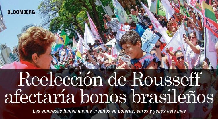 Fantasma de reelección de Rousseff afecta bonos brasileños