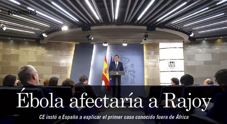 Rajoy pagaría precio político por brote de ébola en España