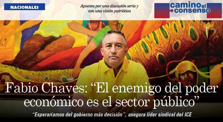 """Fabio Chaves: """"El enemigo del poder económico es el sector público"""""""
