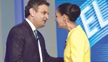 Marina Silva declara su apoyo a Aécio Neves