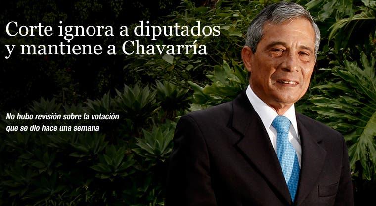 Corte ignora a diputados y mantiene a Chavarría