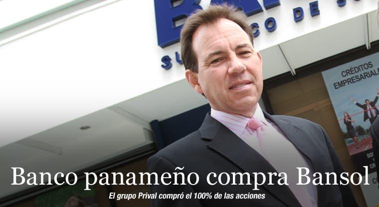 Banco panameño compra Bansol