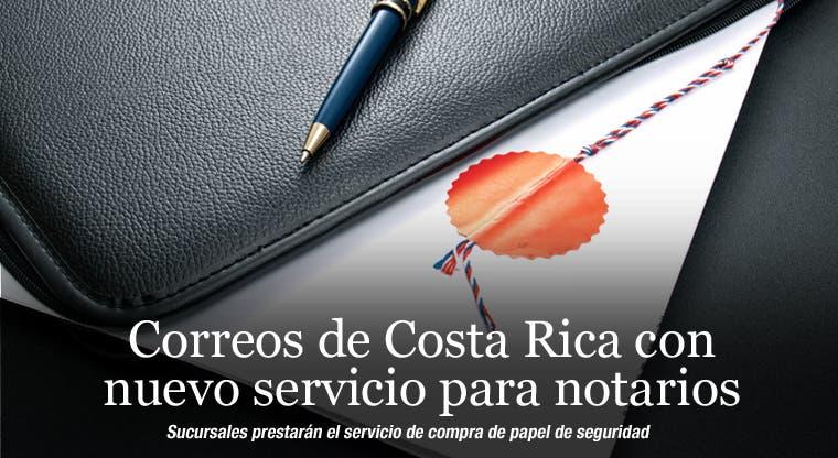 Correos de Costa Rica con nuevo servicio para notarios