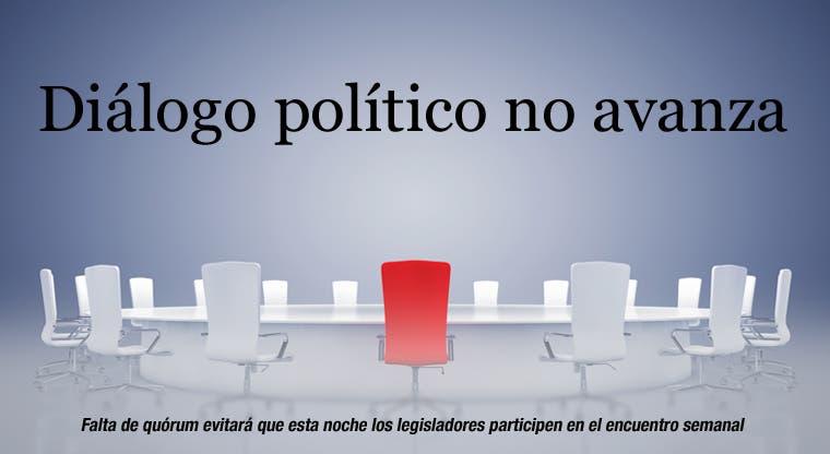 Diálogo político no avanza