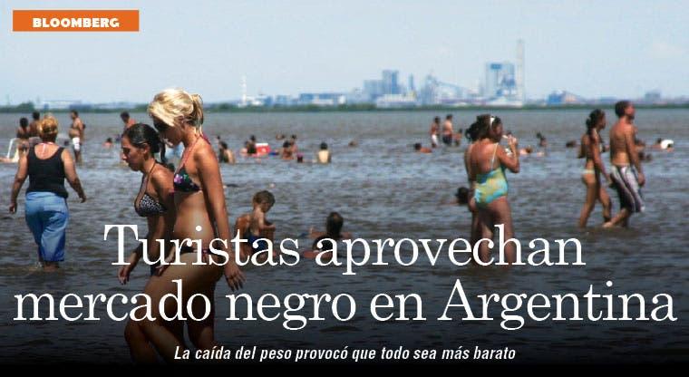 Mercado negro en Argentina resulta irresistible para los turistas