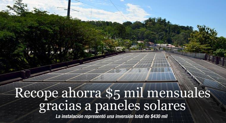 Recope ahorra $5 mil mensuales gracias a paneles solares