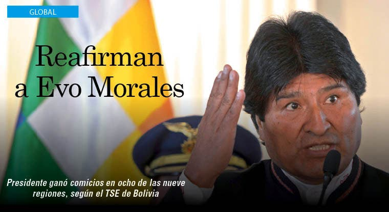 Proclaman reelección presidencial de Evo Morales en Bolivia