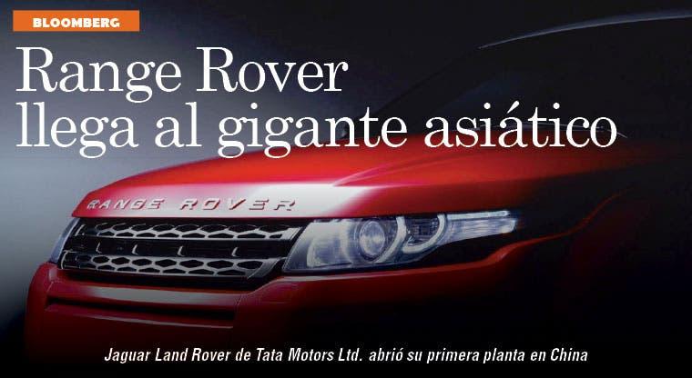 Range Rover fabricará sus modelos de lujo en China