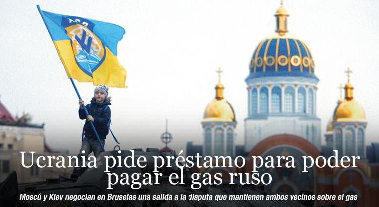 Ucrania pide préstamo para poder pagar gas ruso
