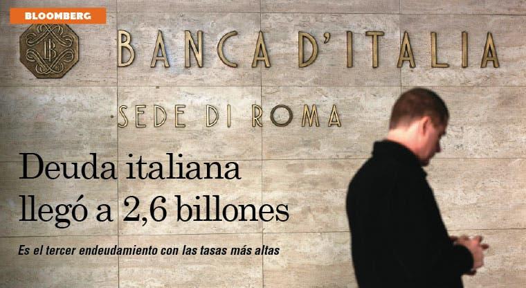 Deuda italiana de $2,6 billones da ventaja a España