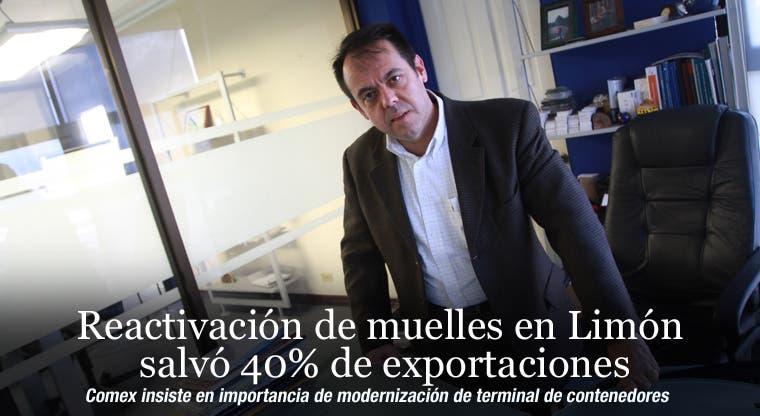 Reactivación de muelles en Limón salvó 40% de exportaciones