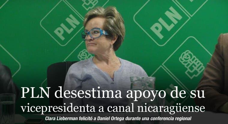 PLN desestima apoyo de su vicepresidenta a canal nicaragüense