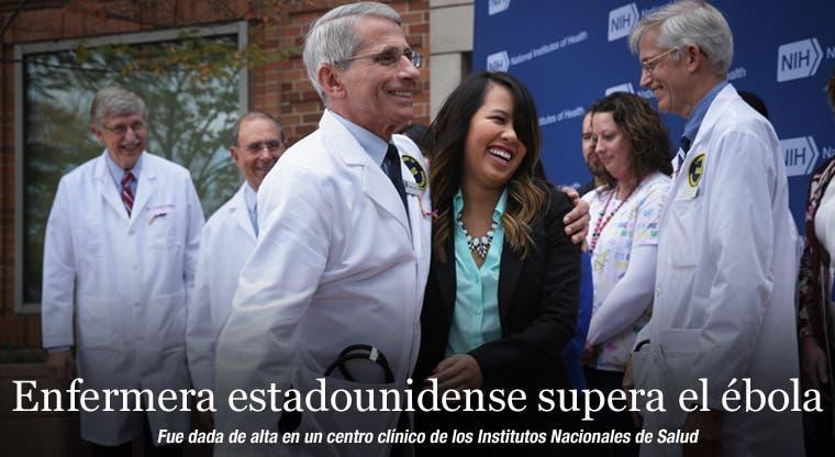 Enfermera estadounidense supera el ébola