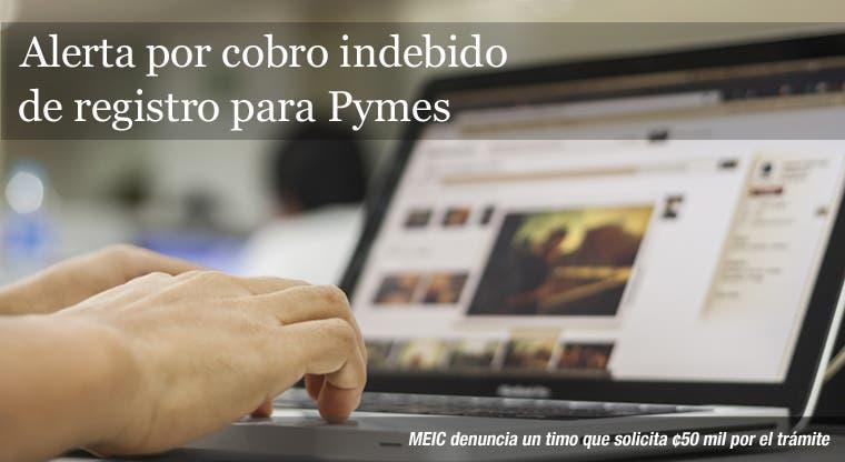 Alerta por cobro indebido de registro para Pymes