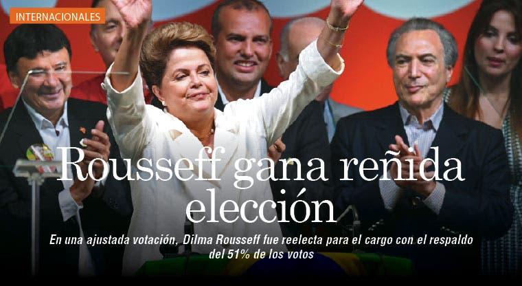 Rousseff gana una reñida elección en Brasil