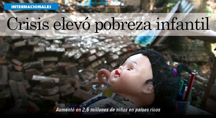 Crisis llevó a millones de niños a la pobreza en países ricos