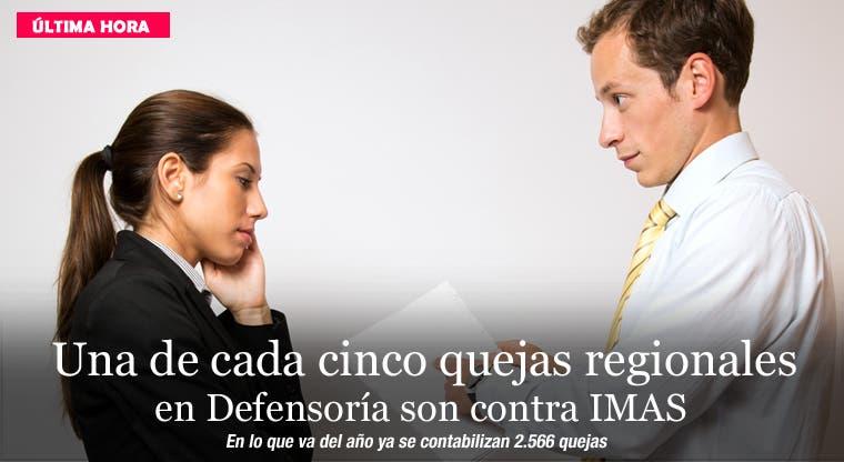 Una de cada cinco quejas regionales en Defensoría son contra IMAS
