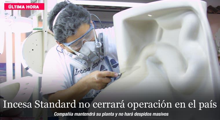 Incesa Standard no cerrará operación en el país
